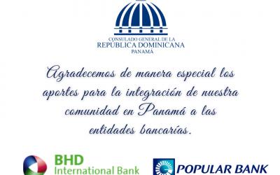 Consulado reconoce aportes de entidades Bancarias dominicanas en Panamá para integración de comunidad.